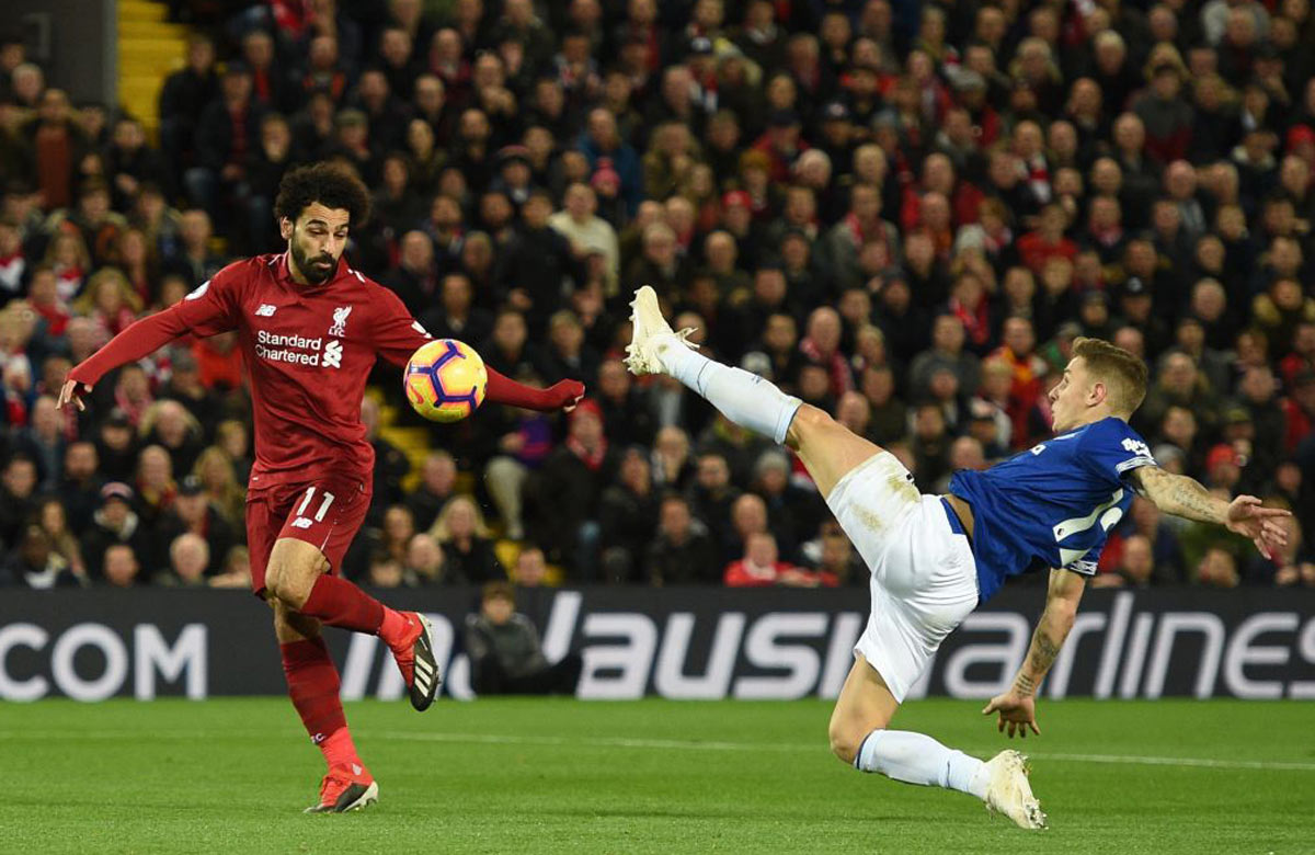 Salah zahodil proti Evertonu tutovku. Manchester City je už na čele Premier League! (VIDEO)