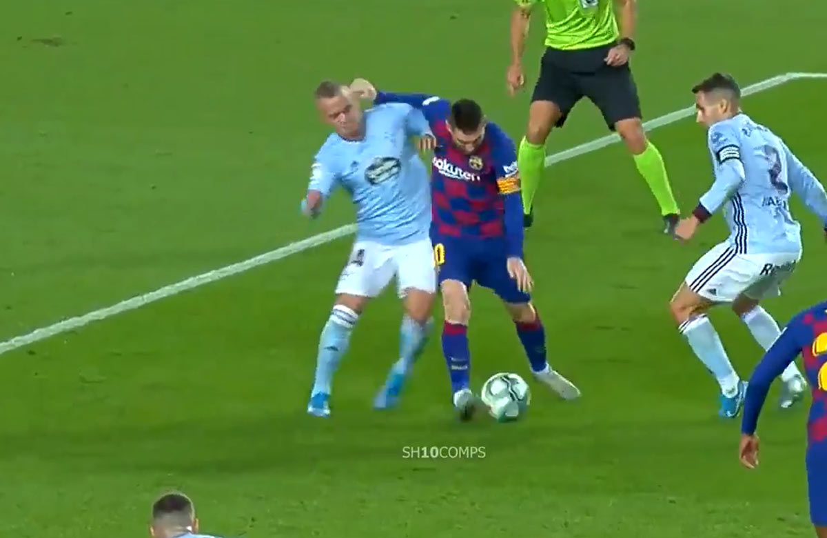 Lobotka zostrelil Messiho. Camp Nou sa dožadoval penalty (VIDEO)
