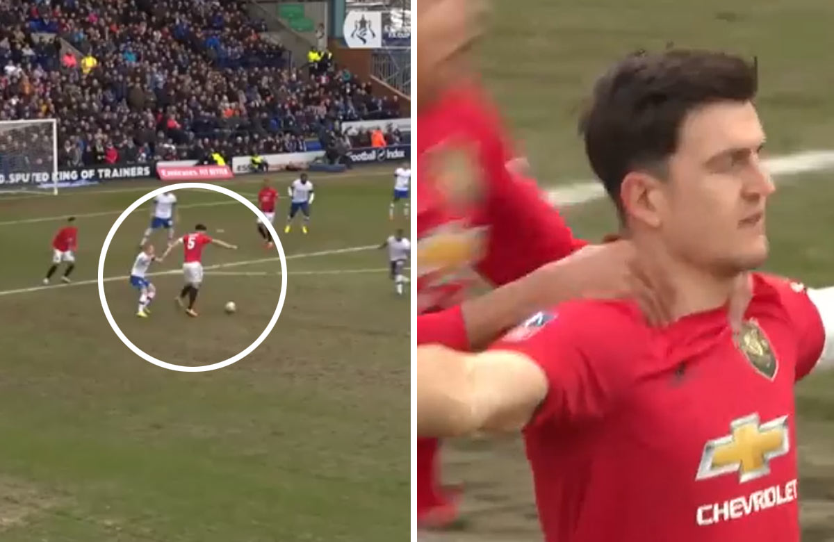 Harry Maguire a jeho krásny gól za Manchester United (VIDEO)