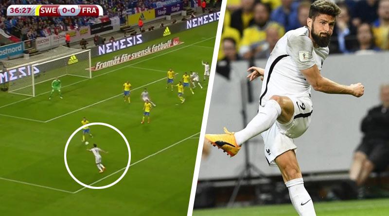 2d73bfc915a79 Olivier Giroud a jeho parádny gólový volej v kvalifikačnom zápase  Francúzska so Švédskom! (VIDEO. MS vo Futbale ...