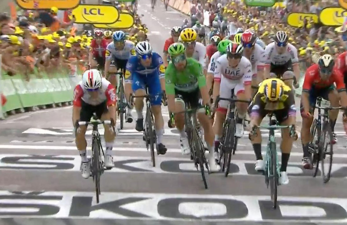 Peťo Sagan v elitnej trojke počas 7. etapy na Tour de France (VIDEO)
